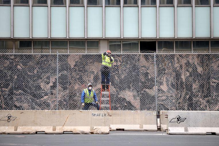 Minneapolis bereidt zich voor op wat mogelijk komt.  Beeld Getty Images