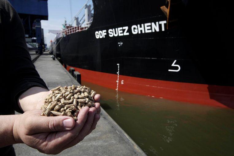 Een schip van energiereus GDF Suez (nu Engie) komt aan in de haven van Gent. Beeld BELGA