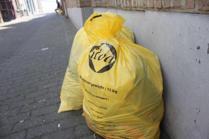 De huidige gele vuilniszakken van ILvA.
