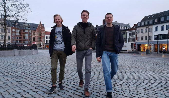 De drie organisatoren van de klimaatactie in Turnhout