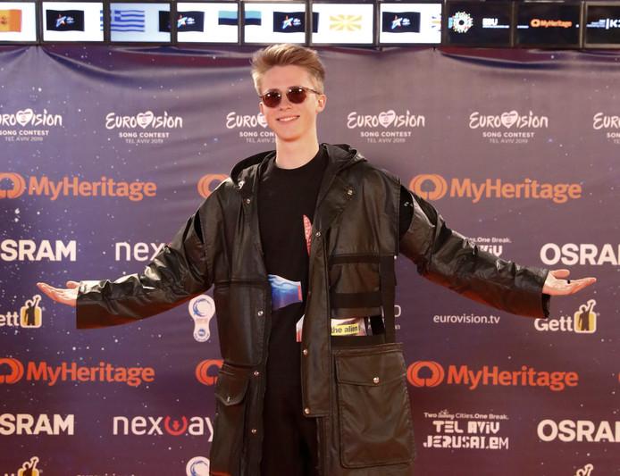 De Belgische deelnemer aan het Eurovisiesongfestival, Eliot.