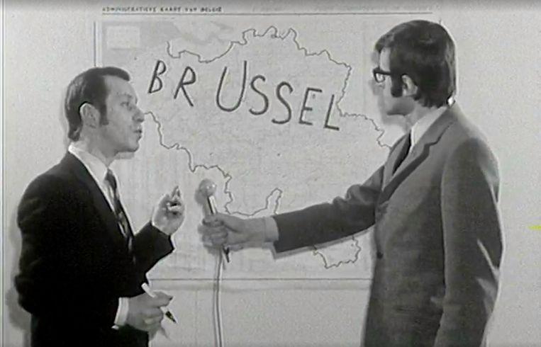 Walter Capiau en Jan Van Rompaey in 'Magesien'. Beeld RV