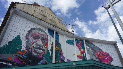 Muurschildering voor George Floyd ingehuldigd in Laken