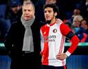Dick Advocaat en Yassin Ayoub, één van de Feyenoord-spelers die deze winter is vertrokken.