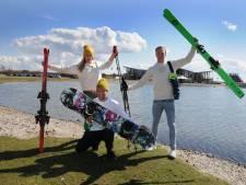 Zeil- en surfcentrum Brouwersdam; zomers knallen in het zoute water, 's winters los gaan in de sneeuw