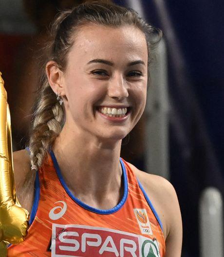 Nadine Visser prolongeert met ijzersterke race Europese titel op 60 meter horden