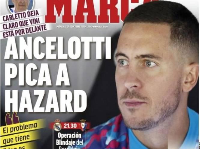 """""""Ancelotti scherp voor Hazard"""": opvallende uitspraken van Real-coach ook groot uitgesmeerd op cover MARCA"""