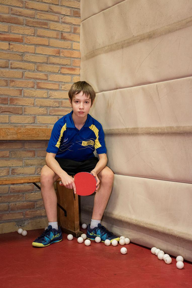'Voor ik op de topsportschool zat, had ik soms geen zin om te trainen. Nu denk ik: ik ben hier nu, ik moet het beste van mezelf laten zien.' Beeld SISKA VANDECASTEELEE