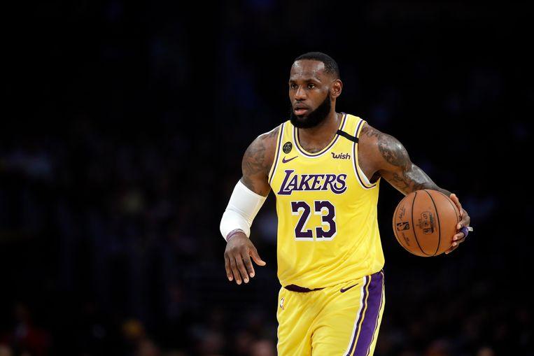 LeBron James is de vedette van de Los Angeles Lakers. Beeld AP