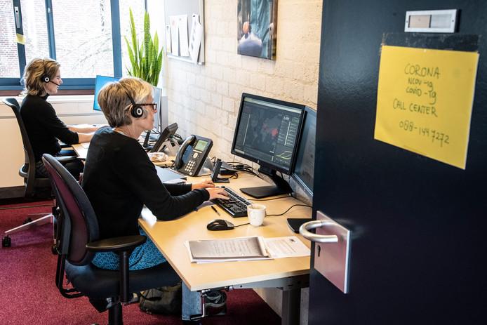 Het callcenter voor het coronavirus van de GGD Gelderland-Zuid in Nijmegen.