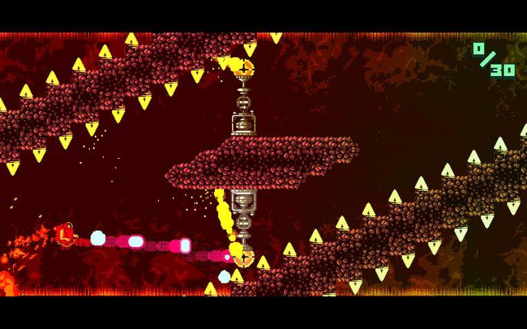 Atomik: RunGunJumpGun is weer een toonbeeld van het onophoudelijke 8-bit-fetisjisme dat indie-gamemakers in de ban houdt. Beeld Devolver Digital