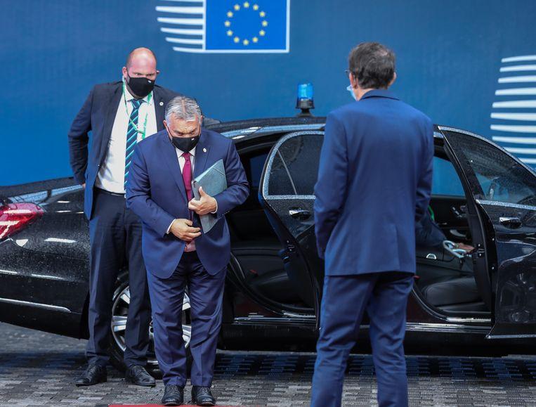 De Hongaarse premier Viktor Orbán blokkeert momenteel de Europese meerjarenbegroting. Beeld AFP