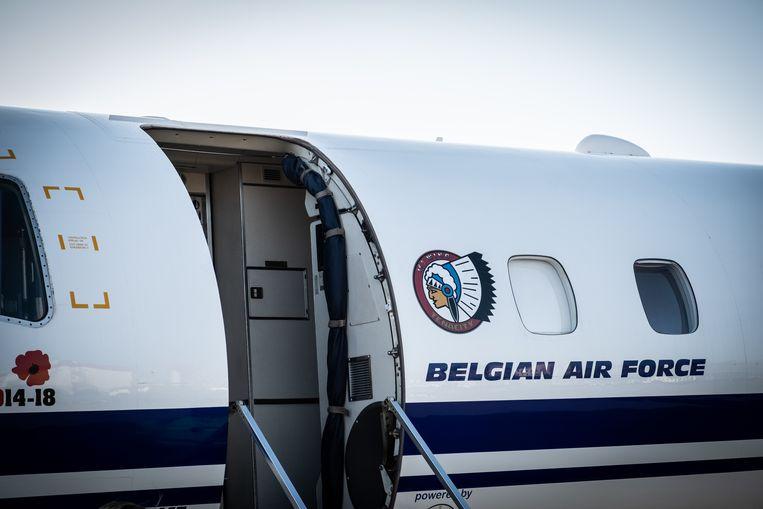 Een Embraer van de Belgische luchtmacht. Foto ter illustratie.
