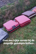 Vijf koffers werden gevonden aan de Keppelweg in Punthorst
