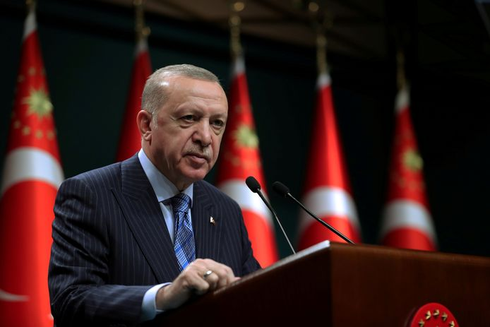 De Turkse president Recep Tayyip Erdogan.