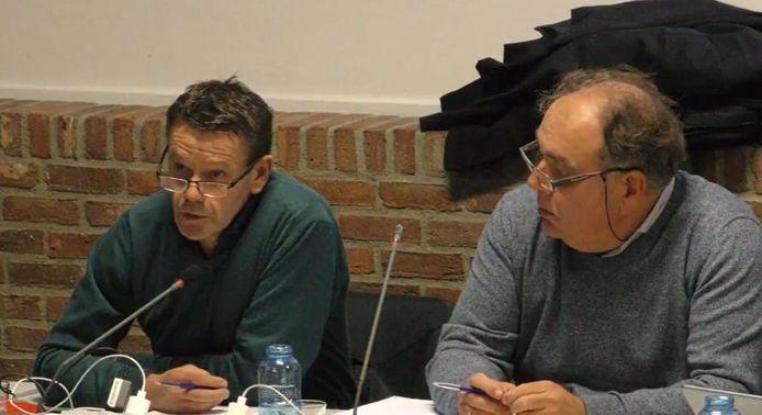 Schepen Koen Dehaen (N-VA) en burgemeester Erik Broeckx (N-VA).