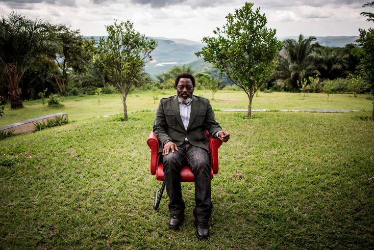 De huidige president van de Democratische Republiek Congo, Joseph Kabila, in de tuin van zijn ranch in Kinshasa, december 2018. Beeld AFP