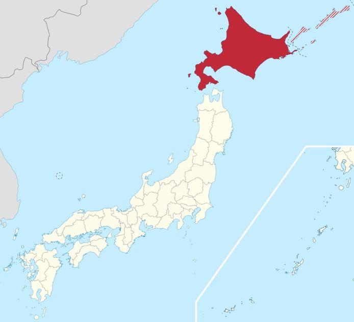 Hokkaido is het meest noordelijke van de vier grote eilanden van Japan