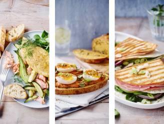 Een originele omelet, notenbrood of gegrilde wrap met avocado: 3 gezonde, inventieve lunchrecepten