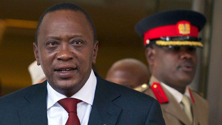 De Keniaanse president Uhuru Kenyatta wordt volgende week berecht in Den Haag. Beeld afp