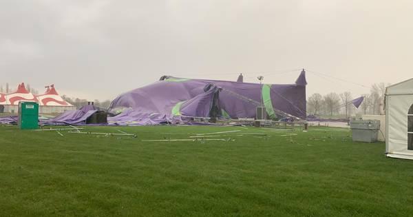 Protest met tenten op voetbalveld in Amstenrade De