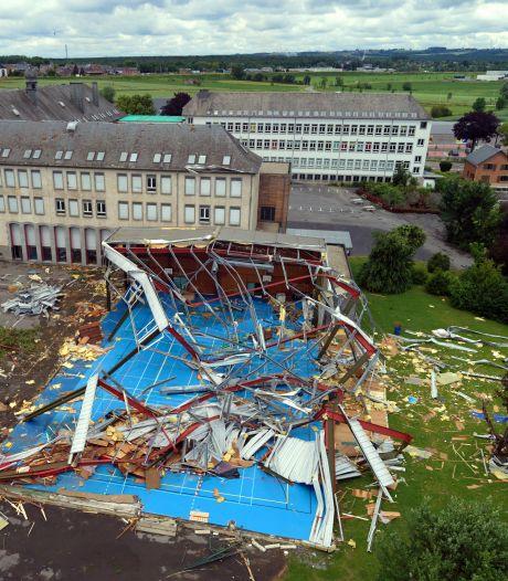 Les dégâts vus du ciel après la tornade à Beauraing