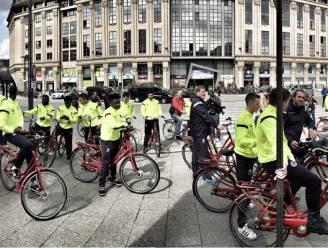 Buffalo's fietsen naar binnenstad Gent voor woordje uitleg over nieuw circulatieplan