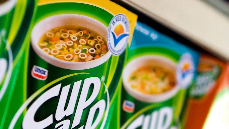 Pakjes Cup-a-Soup met het Ik Kies Bewust-logo Beeld ap