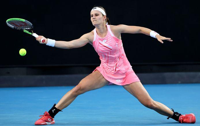 Petra Kvitova was te sterk voor onze landgenote.