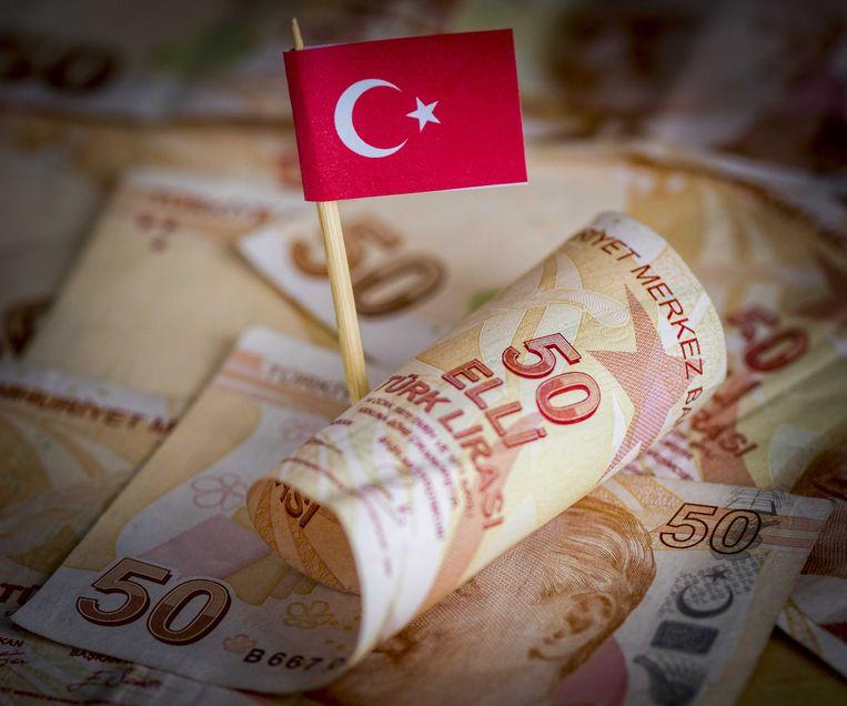 Biljetten van de Turkse lira.