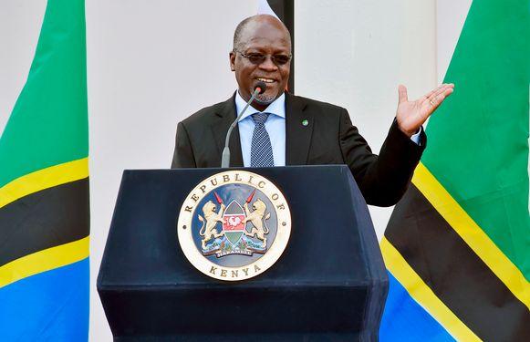De president van Tanzania,  John Pombe Magufuli.