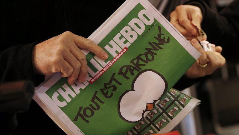 Op de nieuwste editie van Charlie Hebdo is een run onstaan. Beeld anp