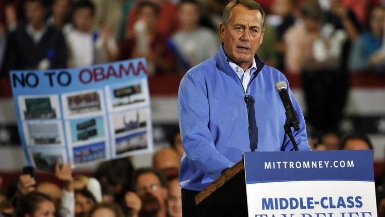 John Boehner voert campagne voor Romney Beeld ANP