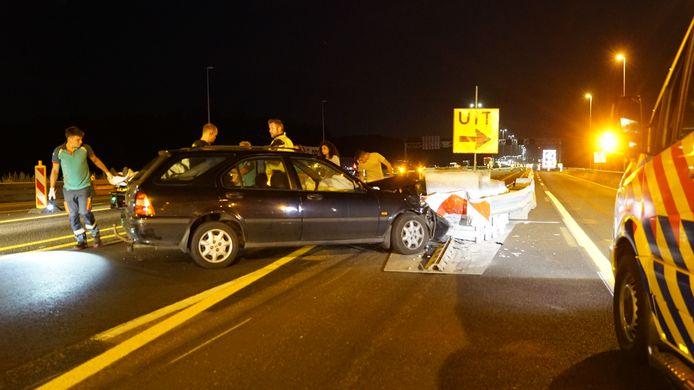 Op de A1 bij Deventer-Oost was het vanavond weer raak.