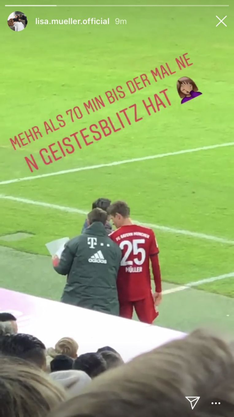De bewuste Instagram-post van mevrouw Müller.