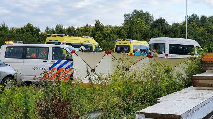 Het ongeval gebeurde op de N210 bij IJsselstein.