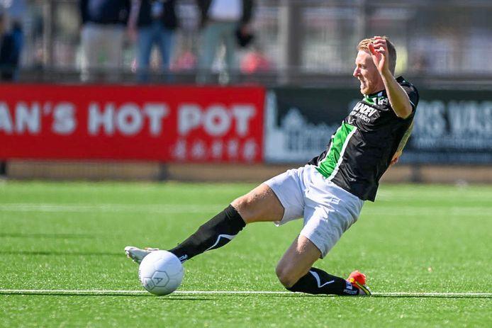 Ook met vooruitgeschoven post Lex Immers kon Scheveningen ondanks enkele goede kansen tegen AFC het verschil niet maken.
