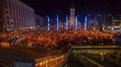 Duizenden Esten op straat voor fakkeltocht van extreemrechts