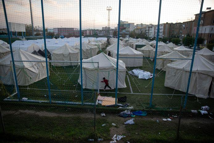 Getroffen gezinnen leven voorlopig in tenten