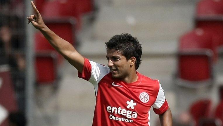 Sami Allagui scoorde dit seizoen al twee keer voor Mainz. Beeld EPA