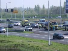 File op A4 door kettingbotsing tussen Schiedam en Delft