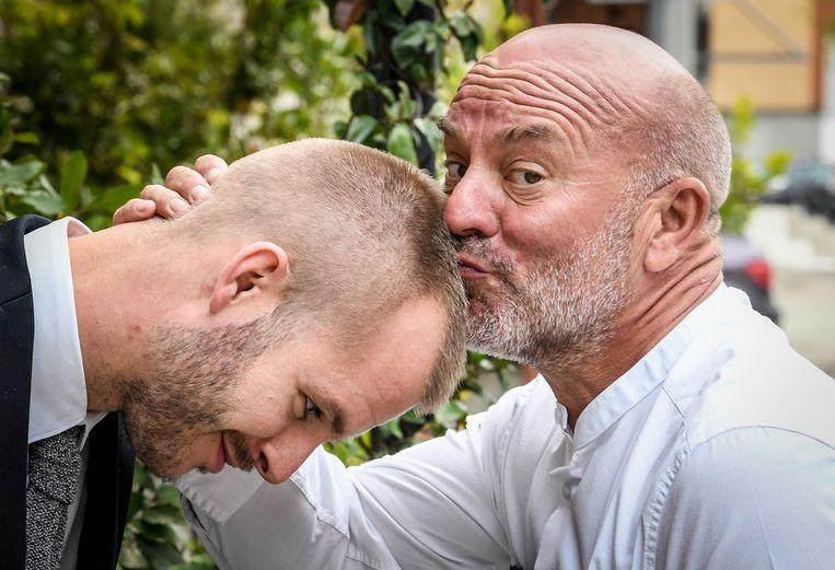 Piet Huysentruyt (56) en zijn zoon Cyriel (28).