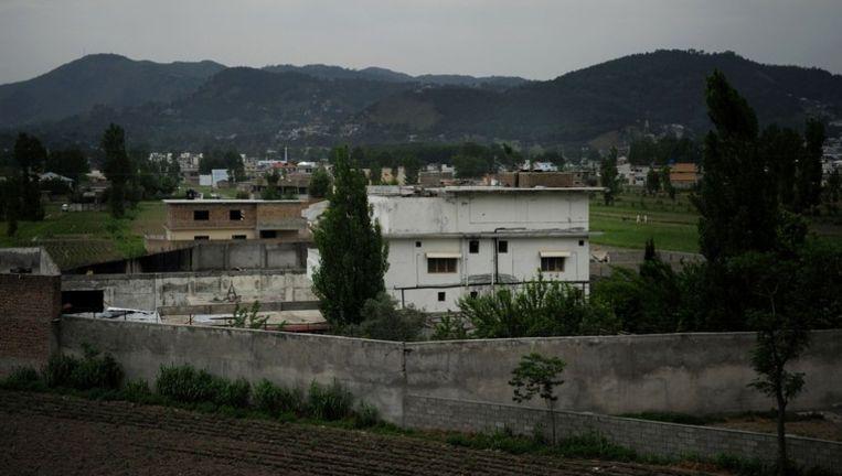 De schuilplaats waar Osama bin Laden sinds 2005 verbleef. Beeld AFP
