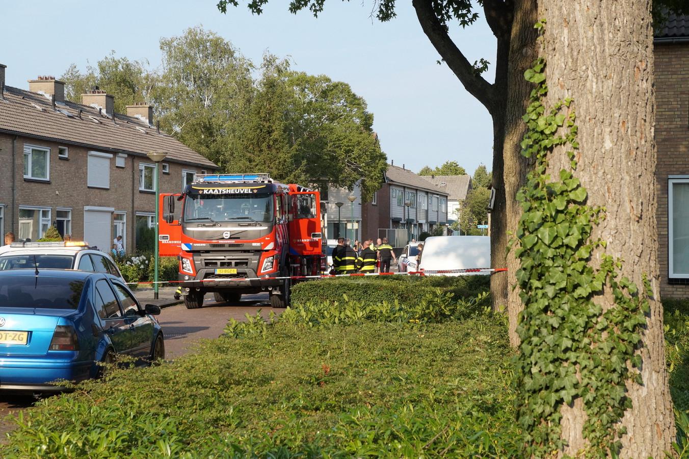 Een schuur brandde compleet uit, een persoon werd aangehouden.