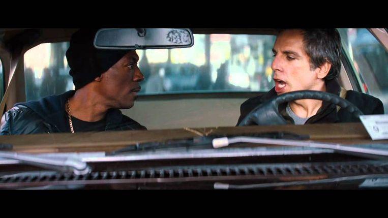 Eddie Murphy (links) en Ben Stiller in Tower Heist (Brett Ratner, 2011). Beeld