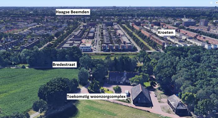 De monumentale boerderij aan de Bredestraat in de Haagse Beemden, waar het woonzorgcomplex voor ouderen de Keihoef komt.