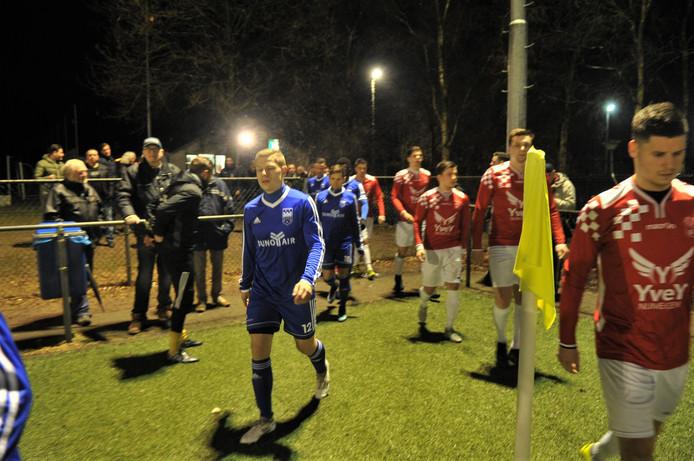 Jochem Jansen bij zijn debuut voor Duno in de (verloren, 1-2) bekerwedstrijd tegen Alverna.