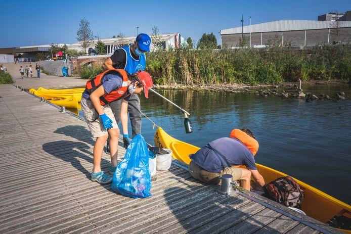 Le World Cleanup Day à Gand en 2020.