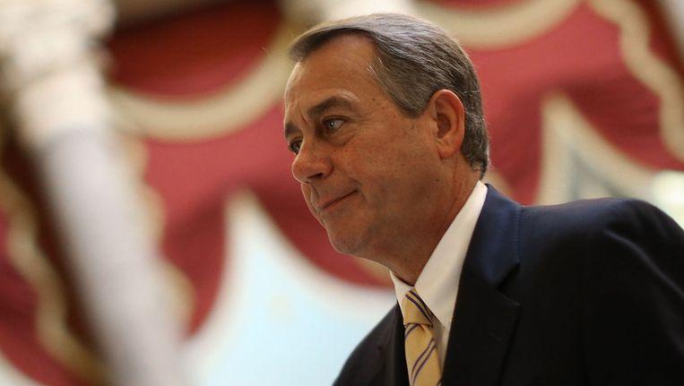 De Republikeinse voorzitter van het Huis van Afgevaardigden John Boehner. Beeld getty