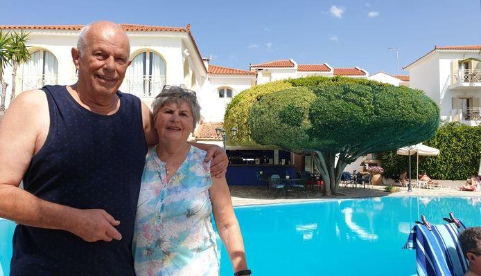 Het echtpaar uit Haarlem op vakantie.